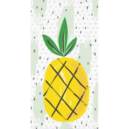 - Pack of 192 Summer Pineapple Fruit Pattern 3-Ply Party Napkins 8