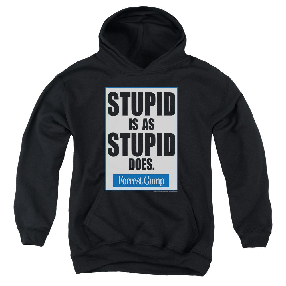 Forrest Gump Stupid Is Big Boys Pullover Hoodie
