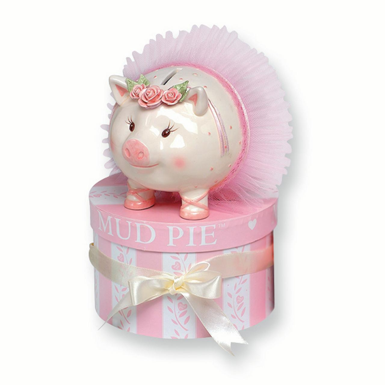 Pink Ballerina Piggy Bank GL5283 by Mud Pie