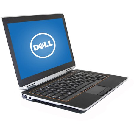 Refurbished Dell 13.3  E6320 Laptop PC with Intel Core i5-2520M Processor, 8GB Memory, 128GB SSD and Windows 10 Pro Refurbished Dell 13.3  E6320 Laptop PC: Key Features and Benefits: Intel Core i5-2520M processor2.50GHz8GB DDR3 SDRAM system memoryGives you the power to handle most power-hungry applications and tons of multimedia work128GB solid state driveStore 85,000 photos, 36,000 songs or 67 hours of HD video and moreDVD-ROM driveWatch movies and read CDs and DVDs in multiple formats10/100/1000Mbps Gigabit Ethernet, 802.11b/g/n Wireless LANConnect to a broadband modem with wired Ethernet or wirelessly connect to a WiFi signal or hotspot with the 802.11b/g/n connection built into your PC13.3  720p HD anti-glare LED-backlit displayIntel HD GraphicsAdditional Features:4 x USB 2.0 ports, 1 x FireWire (1394) port, 1 x audio-out jack, 1 x microphone jack, 1 x RJ-45 Ethernet port, 1 x VGA portStandard lithium-ion battery, up to 30 min battery life4.3 lbs, 13.2  x 8.8  x 1.2 Software: Genuine Microsoft Windows 10 Pro 64-Bit EditionBackup and Restore options built into Windows allow you to create safety copies of your most important personal files, so you're always prepared for the worstSupport and Warranty: Refurbished items have a 90 days parts and labor limited warrantyRecovery partition on Hard DriveWhat's In The Box: Power cord and AC adapterStandard lithium-ion batteryQuick Start GuideTo see the manufacturer's specifications for this product, click here. To see a list of our PC Accessories, click here. Trade in your used computer and electronics for more cash to spend at Walmart. Good for your wallet and the environment - click here.