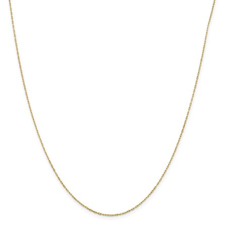 14k Yellow Gold Solid .95 mm Long Open Cable Link Chain Necklace 16 (14k Solid Gold Link)