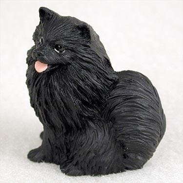 Pomeranian Miniature Dog Figurine - Black
