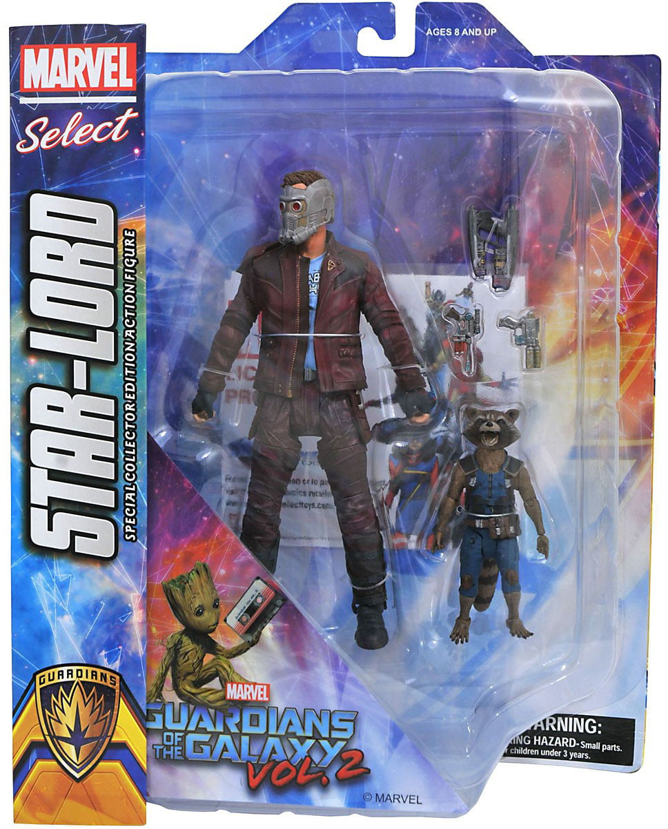 Marvel Select Star-Lord & Rocket Raccoon Action Figure by Diamond Select