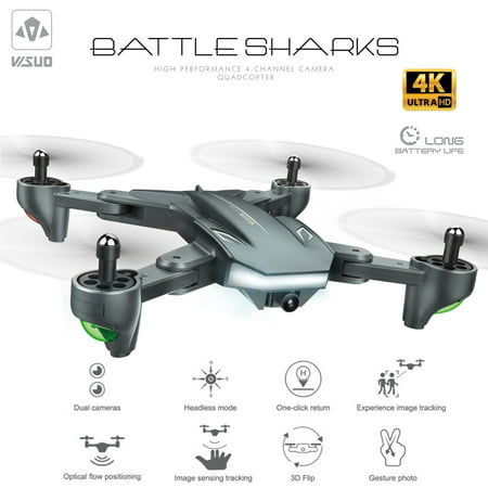 VISUO XS816 Drone with Camera 4K Wifi FPV Optical Flow Positioning Gesture Photography Foldable Quadcopter Altitude Hold
