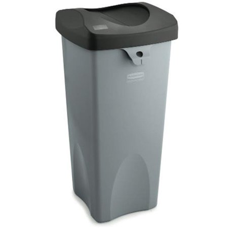 Image of Rubbermaid Commercial Products RCP 3959 GRA Rigid Waste Receptacle - Gray