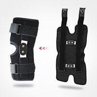 Hinged Knee Brace - Open Patella Support Wrap,Compression for ACL, MCL, Torn Meniscus Ligament and Tendonitis - for Running, Athletic Tear and Arthritis Joint - Adjustable Strap