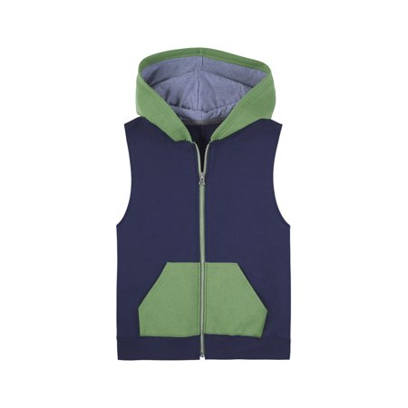 Fruit of the Loom Fleece Full Zip Sleeveless Vest (Little Boys & Big Boys)