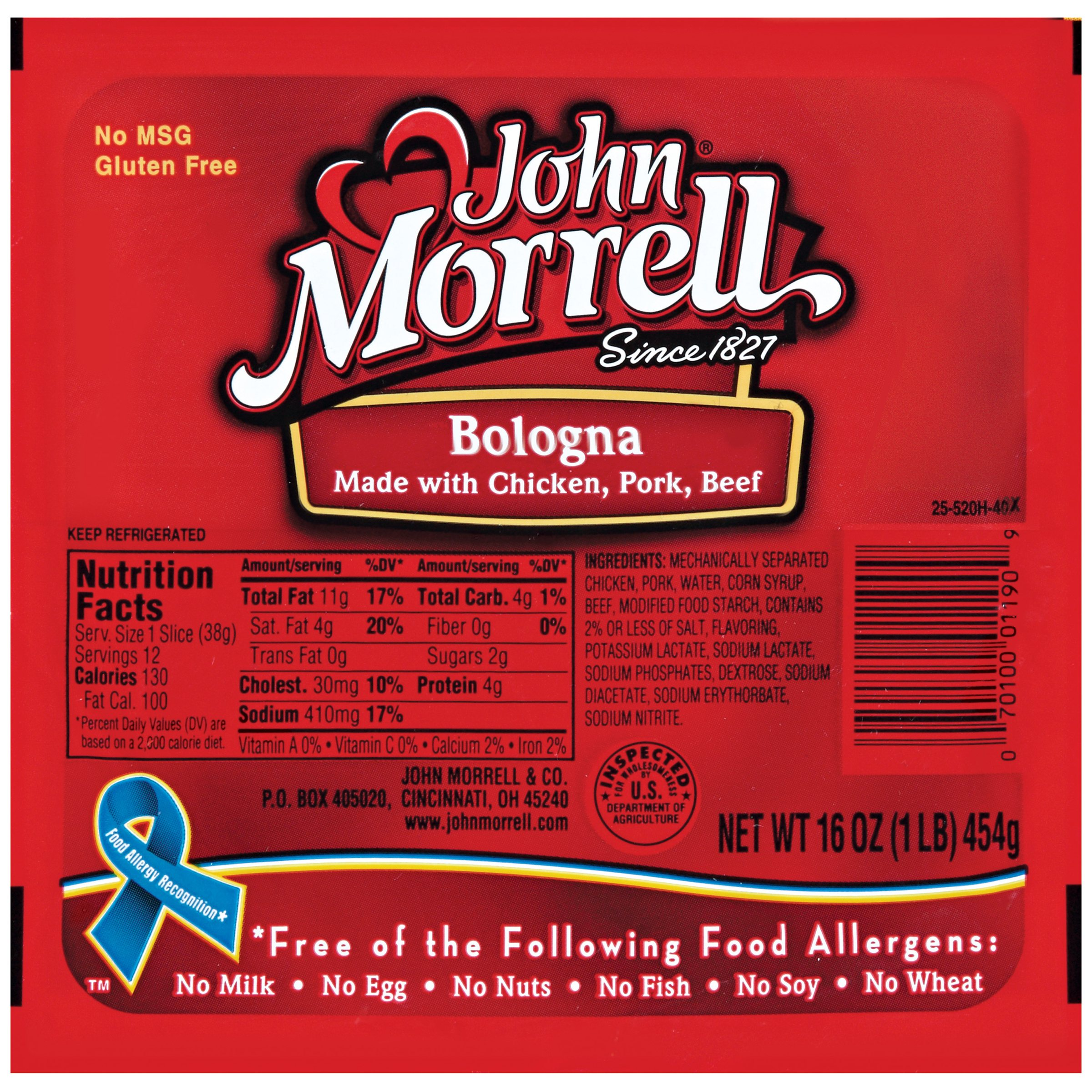 John Morrell Bologna Lunchmeat 16 Oz Well
