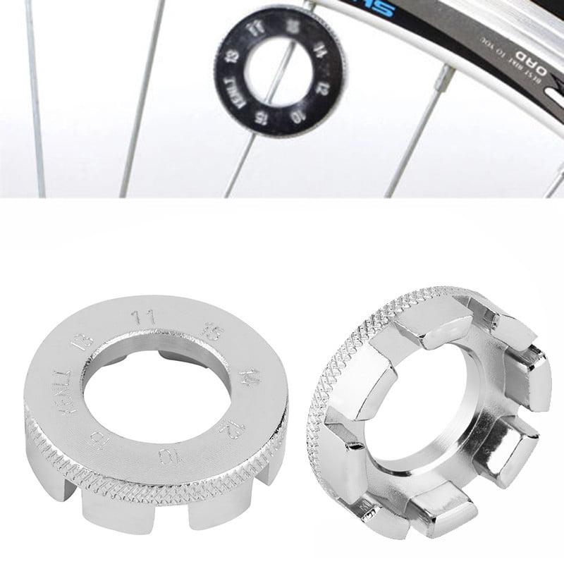 Bicycle 6 Way Spoke Nipple Key Bike Cycling Wheel Rim Spanner Wrench Repair Tool