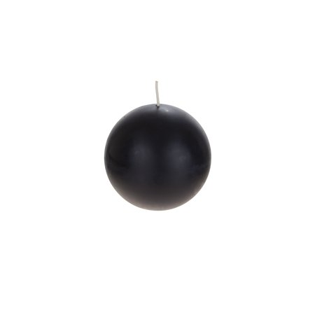 Mega Candles Unscented Black Ball Candle | Hand Poured Premium Wax Candles 4