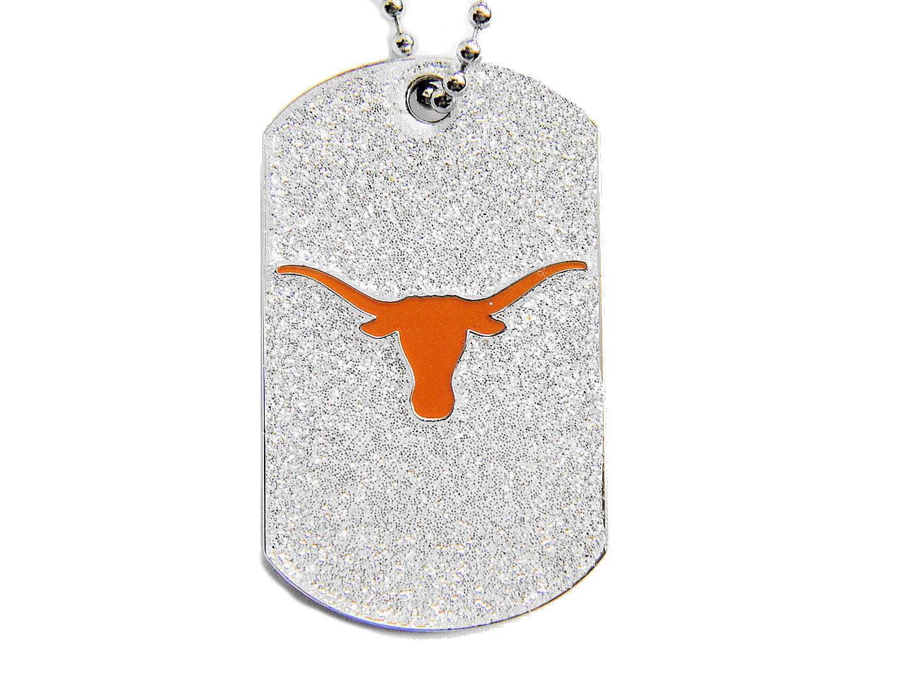 Texas Longhorns Sports Team Logo Dog Fan Tag Glitter Necklace ...