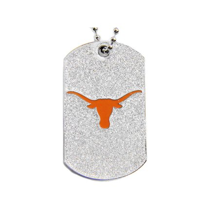 - Texas Longhorns Sports Team Logo Dog Fan Tag Glitter Necklace