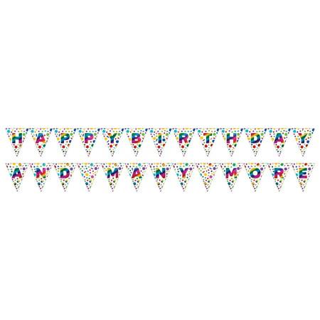 Left Side Banner - Rainbow Foil 7 1/2