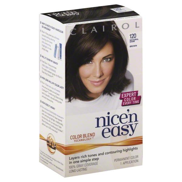 Clairol Nice N Easy Permanent Hair Color 4 120 Natural Dark Brown