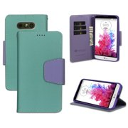 LG G5 WALLET CASE, MINT PURPLE INFOLIO WALLET CREDIT CARD ID CASH CASE COVER STAND FOR LG G5 PHONE