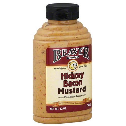 Beaver Brand Hickory Bacon Mustard, 12 oz, (Pack of 6)