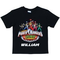 Personalized Power Rangers Dino Charge Boys' Black T-Shirt