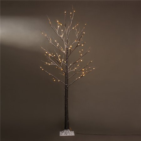 Patch Magic 7 ft. Brown Artificial Snow Lighted Christmas Tree with 120 LEDs](Magic Christmas Tree)