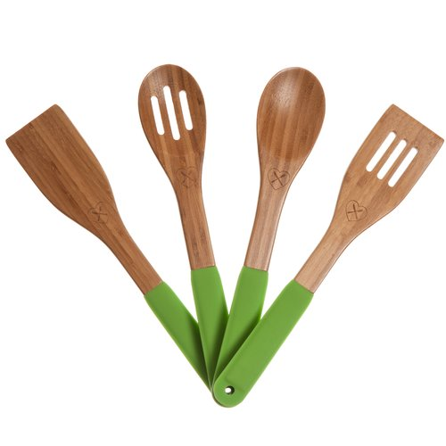 The Kitchen Love 4 Piece Bamboo Utensil Set