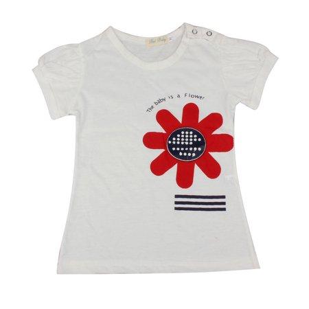 Girls Flower Hair Band Short T-shirt Shorts Three Piece Set hot sales Clothing - Hair 3 Piece Set