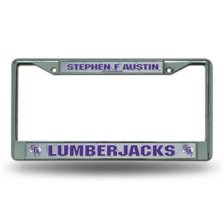Stephen F Austin Lumberjacks NCAA Chrome Metal License Plate Frame Devils Ncaa Chrome License Plate