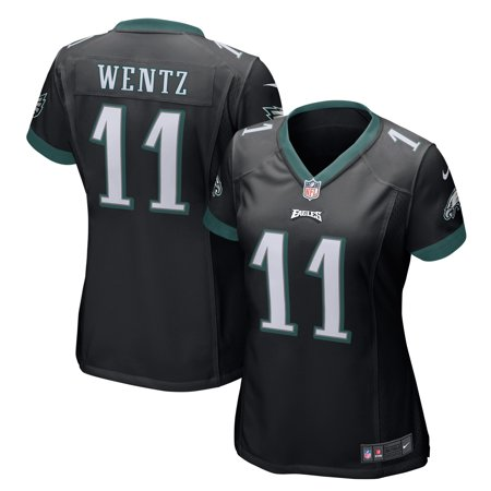 74a9aa75adf Carson Wentz Philadelphia Eagles Nike Women s Game Jersey - Black -  Walmart.com