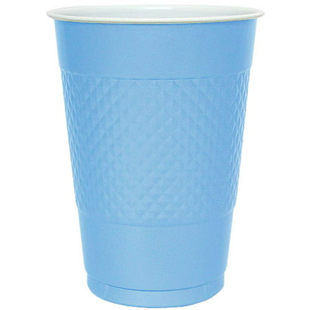 Hanna K Plastic Cups, Light Blue, 16 Oz, 50 Ct