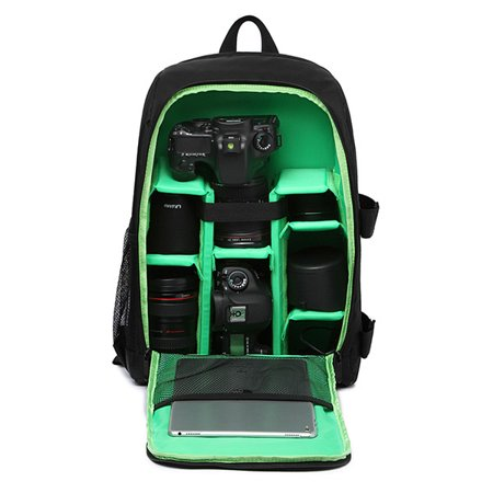 Waterproof Digital DSLR Camera Video Bag SLR Camera Backpack PE Padded for (Best Camera Bag Street Photography)