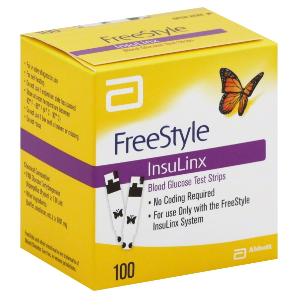 FreeStyle InsuLinx Blood Glucose Test Strips, 100 count