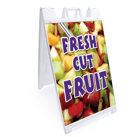 "A-frame Sidewalk Coroplast Apricots Sign With Graphics On Each Side | 18"" X 24"" Print Size"