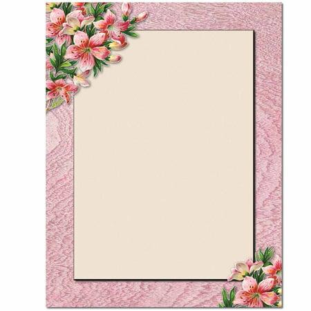 Paper Lily (Pink Lilies Letterhead Laser & Inkjet Printer Paper )
