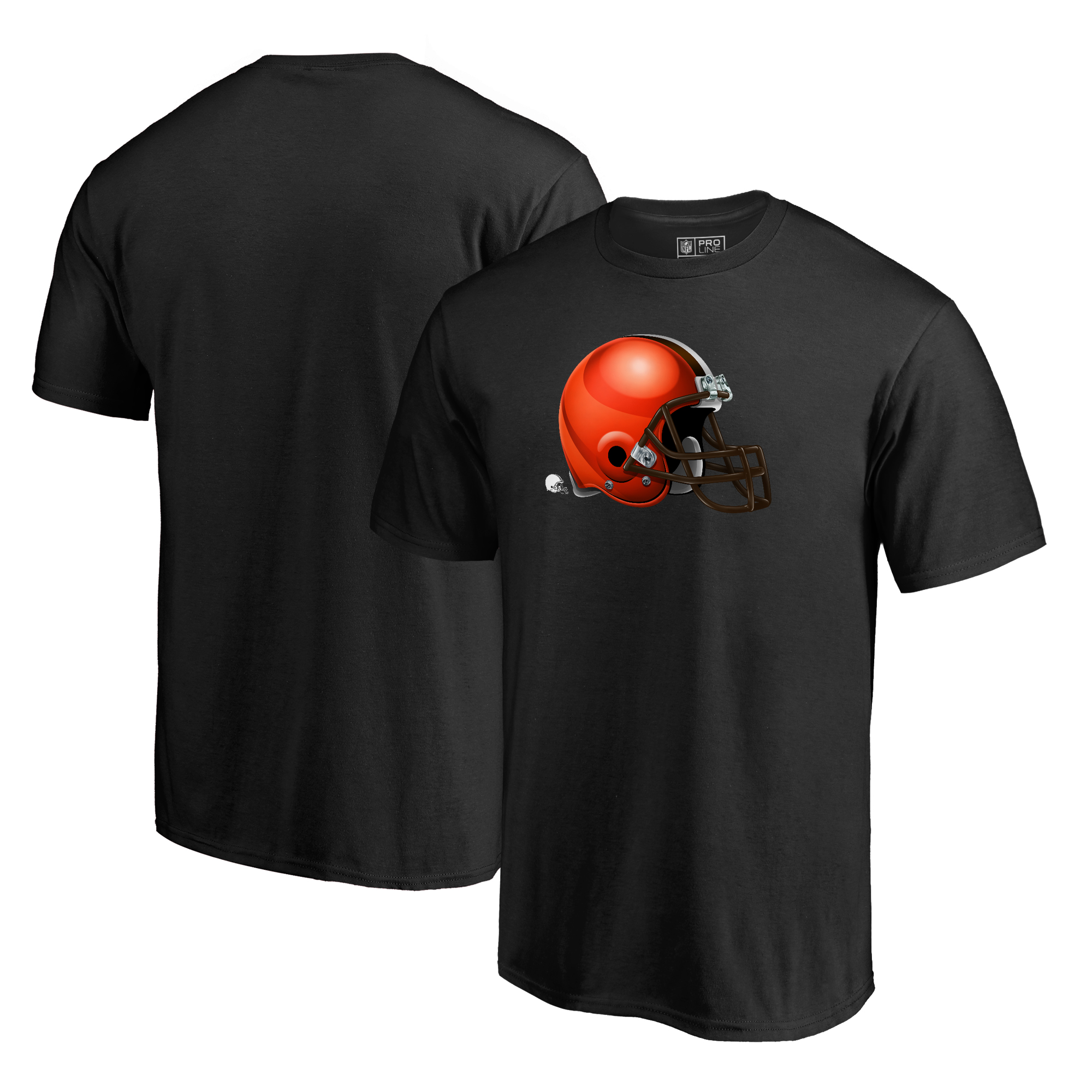 Cleveland Browns NFL Pro Line by Fanatics Branded Midnight Mascot Big and Tall T-Shirt - Black