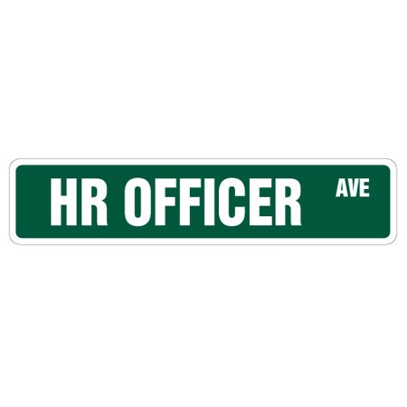 - Hr Officer Street [3 Pack] of Vinyl Decal Stickers | Indoor/Outdoor | Funny decoration for Laptop, Car, Garage , Bedroom, Offices | SignMission