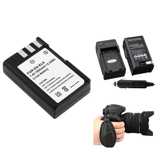 Insten For Nikon D40 D60 EN-EL9 Li-Ion Battery+Charger+Strap New