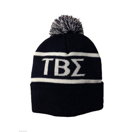 Beta Sigma Sorority - Tau Beta Sigma Knit Beanie Pom Winter Hat