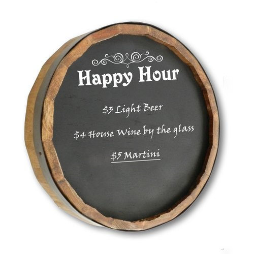 Winston Porter Happy Hour Quarter Barrel Wall Mounted Chalkboard