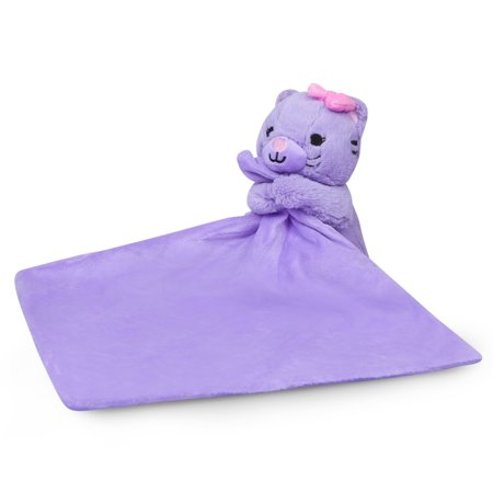 Waddle Purple Baby Blanket Security Blanket Plush Cat Toy Baby