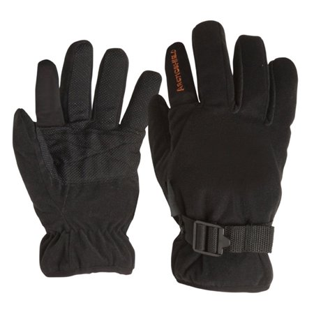 Arctic Shield Camp Gloves - Black - Small, Added pin-dot material for better grip By ArcticShield