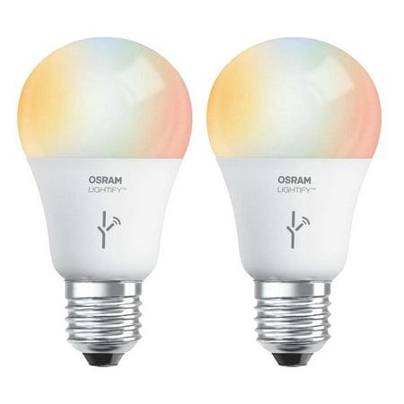 Sylvania Osram Lightify 60W A19 Daylight/ RGB Smart LED Light Bulb (2 Pack)