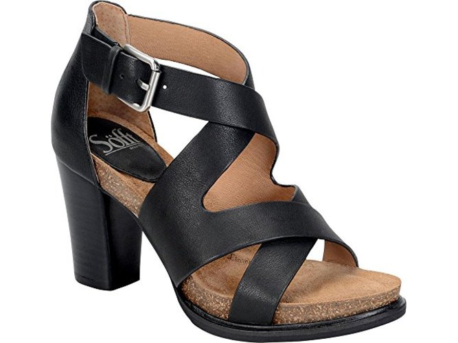 Sofft Womens Canita Leather Open Toe Casual Strappy Sandals by Sofft