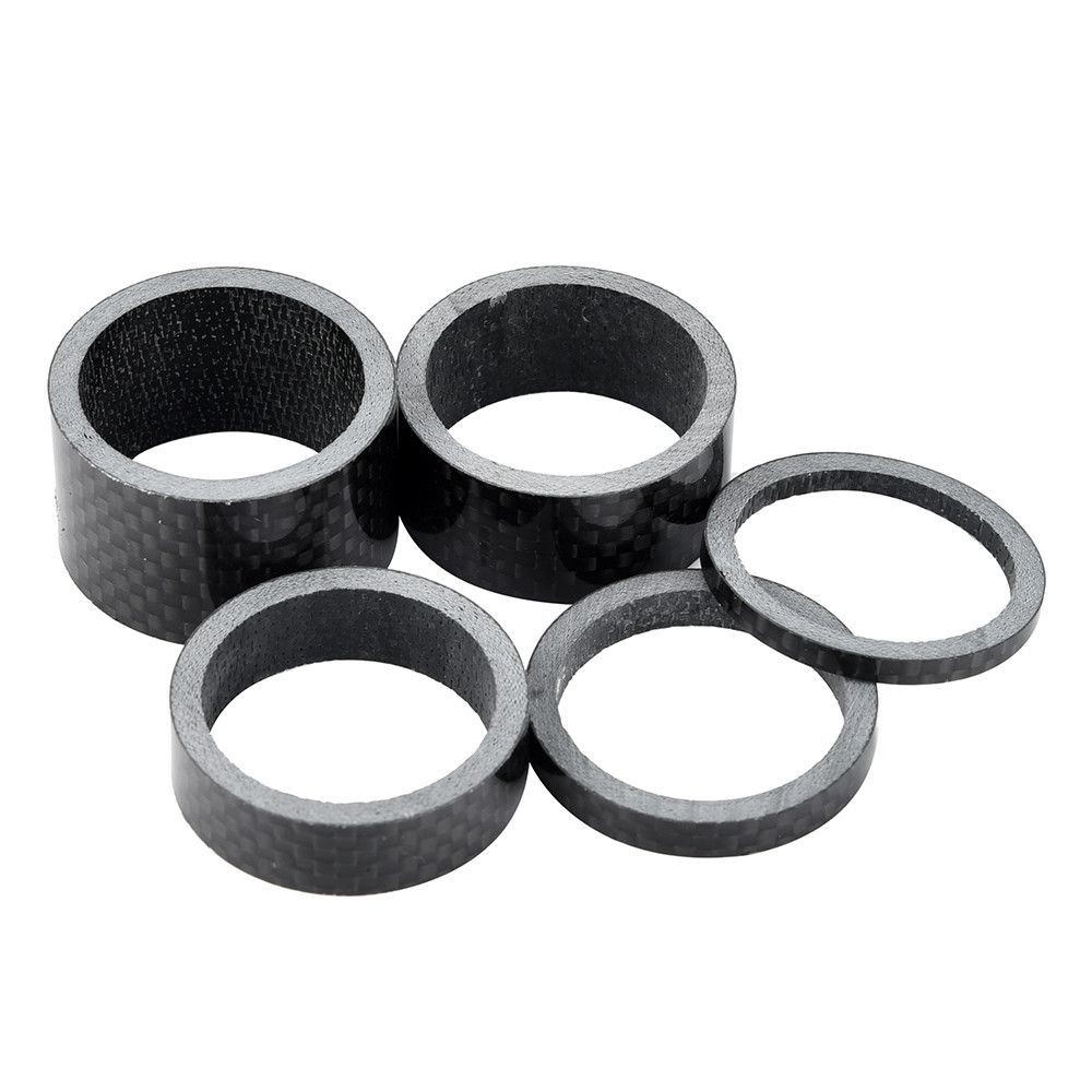 "5pcs Carbon Fiber Headset 5,10,15,20mm Spacers kit 1 1//8/"" For Stem Road BIKE MTB"