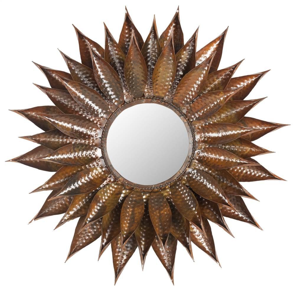 Sunflower Mirror in Copper Finish