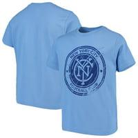 New York City FC Youth Rush to Score T-Shirt - Light Blue
