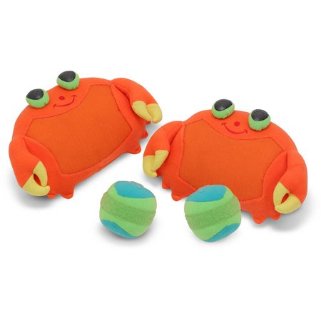 Melissa & Doug Sunny Patch Clicker Crab Toss and Grip Catching Game With 2 Balls