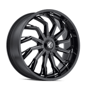 "26"" Inch 5x5/5.5 4 Wheels Rims KRAZE SCRILLA KR142 26x10 +18mm BLACK MILLED"