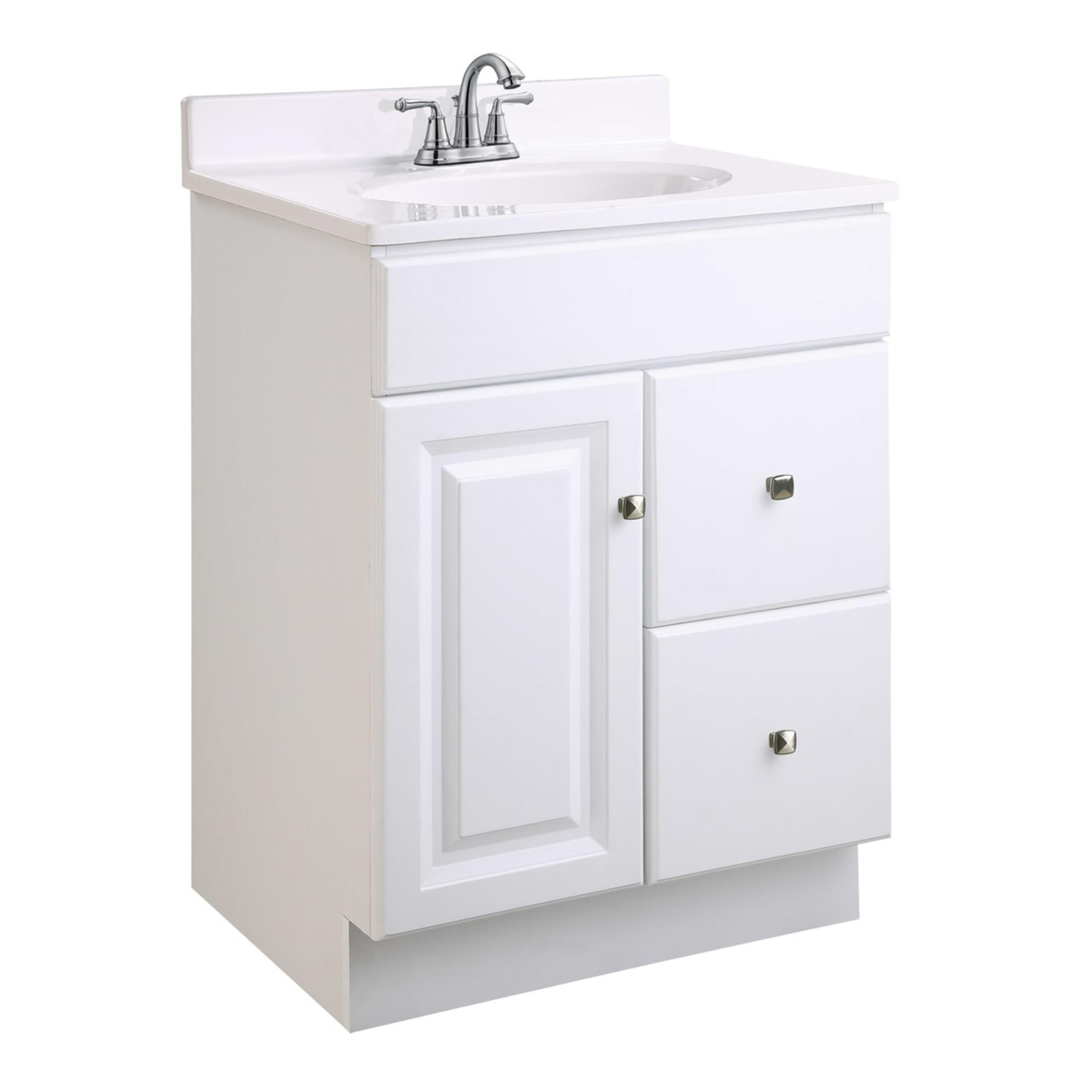 "Design House 545004 Wyndham Unassembled 1-Door 2-Drawer Vanity without Top, 24"", White"
