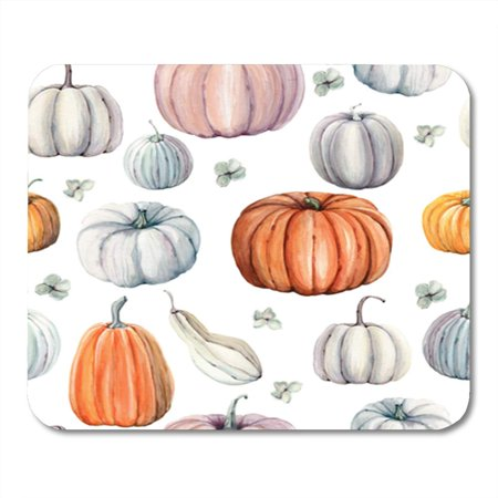 LADDKE Autumn Watercolor Pumpkins It is Perfect for Thanksgiving Halloween Design Recipe Mousepad Mouse Pad Mouse Mat 9x10 inch
