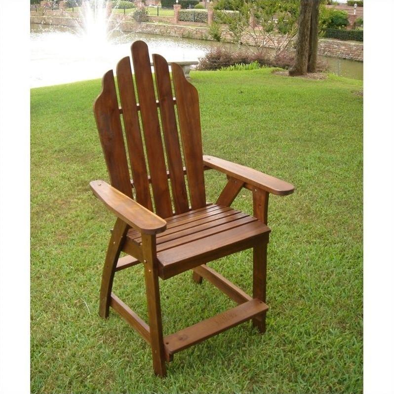 Pemberly Row Adirondack Patio Bar Chair (Set of 2)
