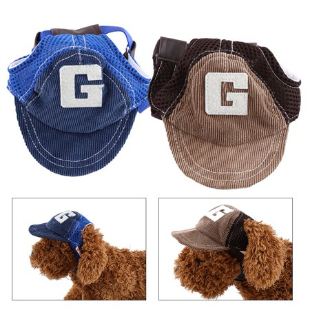 Dilwe 2 Colors 2 Sizes Fashionable Breathable Pet Dog Baseball Caps Sports Sun Hats Pet Supplies, Pet Baseball Caps,Pet Cap