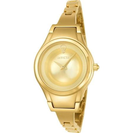 Invicta Womens Gabrielle Union Gold Tone Steel Bracelet   Case Flame Fusion Crystal Quartz Watch 23273